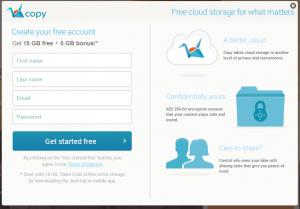 なんと20GBが無料で利用可能。Dropboxのようなクラウドストレージサービス【Copy】。